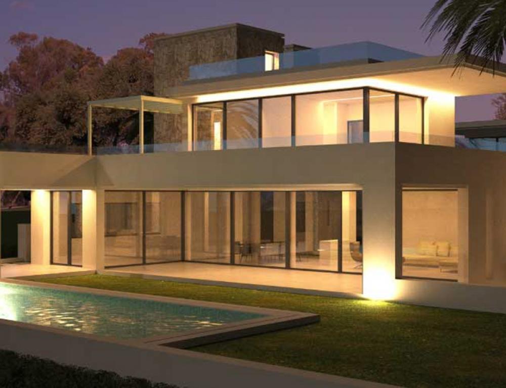 New contemporary villas 200 m from the beach in Guadalmina baja