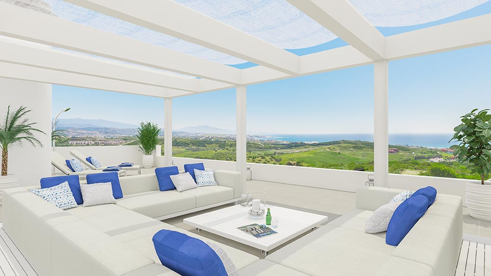 New development in estepona luxury golf urbanisation penthouses apartments